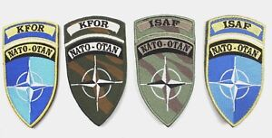 SET of 4 x BRITISH ARMY NATO OTAN ISAF & KFOR BADGES PATCHES