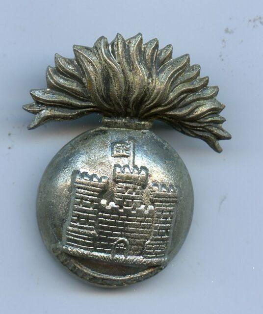 Royal Inniskilling  Fusiliers White Metal  Cap Badge