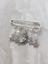 charm pin silver charm bag badge kilt pin Moon and Stars brooch Charm scarf