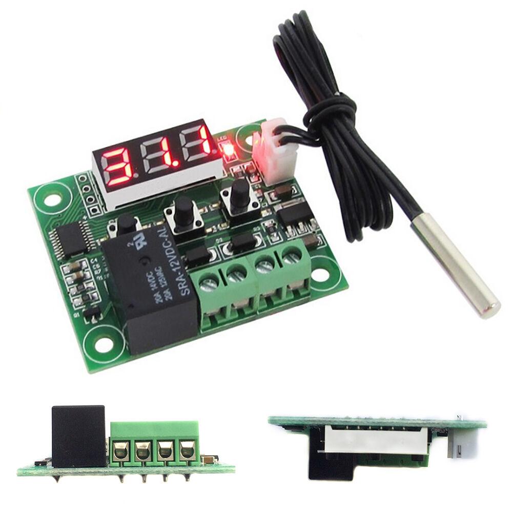 -50-110°C Red W1209 Digital Thermostat Temperature Control Switch Sensor 12V 5