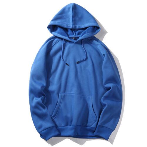 Men Winter Casual Hoodie Warm Pullover Fleece Sweatshirt Hooded Coat Sweater Top