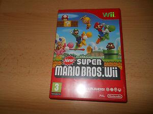 NEW-SUPER-MARIO-BROS-Nintendo-WII-UK-PAL-NEW-NOT-SEALED