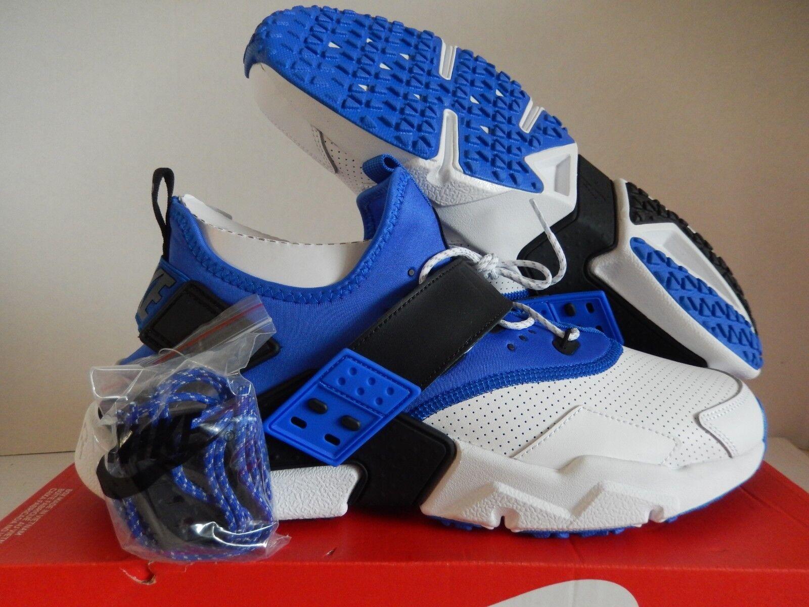 NIKE AIR HUARACHE DRIFT PREMIUM WHITE-RACER blueE-BLACK SZ 14 [AH7335-103]