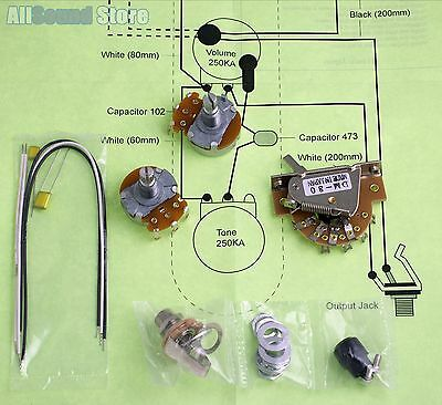 Wiring Kit for Import Fender Telecaster Tele COMPLETE w/ Diagram - on
