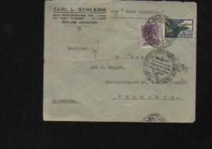 (a67989) Brésil Via Aerea Par Graf Zeppelin Enveloppe 1934 Rio Après MÜnch-afficher Le Titre D'origine
