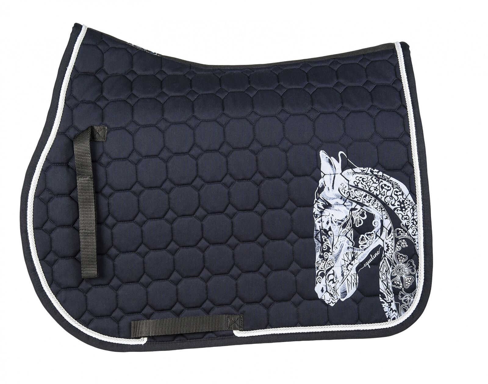 Equiline HOLLY HORSE OCTAGONE SADDLE CLOTH ALUMINIUM S/S 18 18 S/S 180689