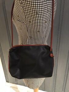 Vtg BOTTEGA VENETA Black Brown MARCO POLO Clutch Crossbody Bag ... ea63639c91750