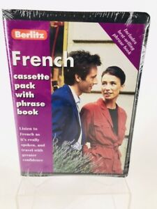 BERLITZ-French-Cassette-Pack-with-Phrase-Book-gt-NEW-FACTORY-SEALED-lt