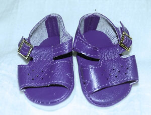 Dark Purple Color Sandals Shoes Fit American Girl Wellie Wishers Dolls