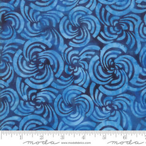 Bahama-Batiks-Moda-cotton-batik-fabric-by-half-yard-Ocean-4352-17-dark-blue