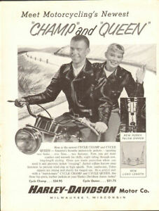 1958-Vintage-Harley-Davidson-Leather-Jackets-11-034-x-14-034-Matted-Motorcycle-Ad-Art