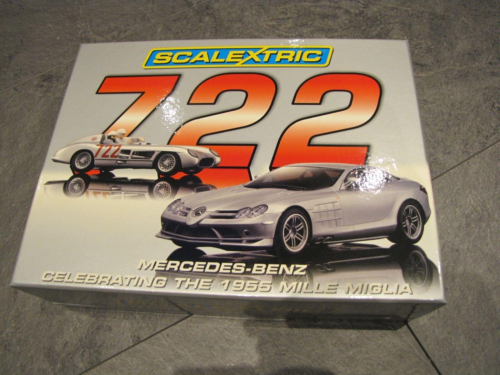 Scalextric 2 car Mille Miglia Mercedes-Benz 722