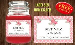 Image Is Loading Personalised Mothers Day Candle Label Sticker Perfect Birthday
