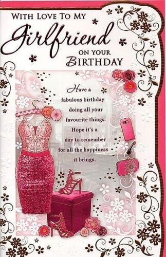 With Love To My Girlfriend On Your Birthday Designer Birthday Card