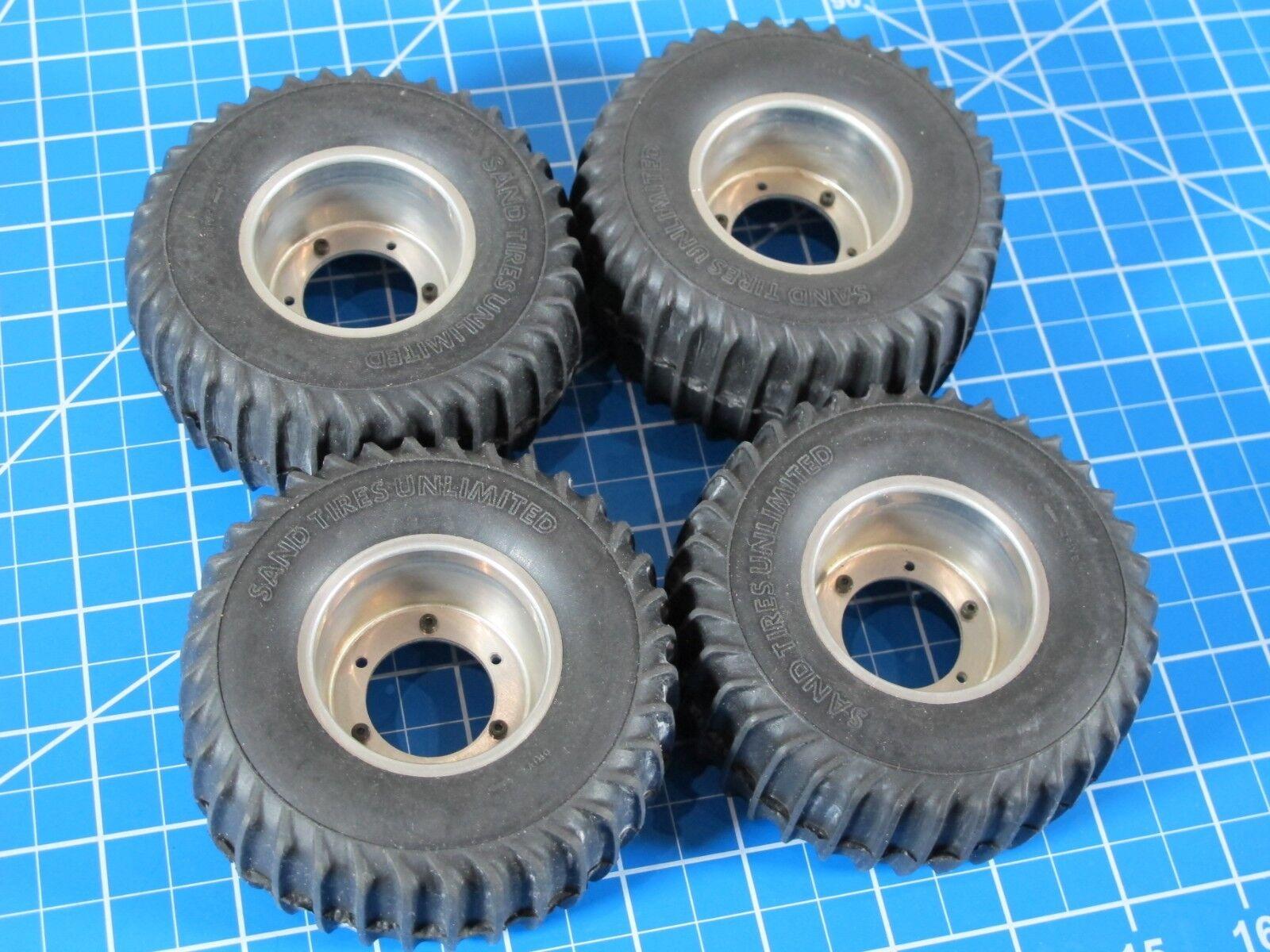 Vintage New Tamiya 1 10 R C Blazing Blazer assembled Wheel Rims Tires