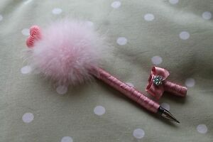 Pink-Puff-Pen-with-In-Love-Lollipop-Embellishment