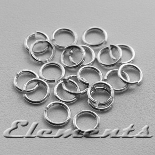 STRONG SOLID STERLING 925 SILVER 4MM JUMP RINGS HIGH QUALITY 0.7MM WIRE