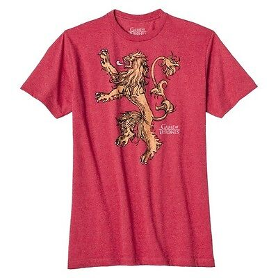 Men's Game of Thrones Lannister Lion Graphic Tee - Red