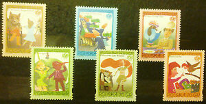 POLAND STAMPS MNH Fi3441-46 Sc3292-97 Mi3591-96- Fairy tales by Brzechwa,1996,** - Reda, Polska - POLAND STAMPS MNH Fi3441-46 Sc3292-97 Mi3591-96- Fairy tales by Brzechwa,1996,** - Reda, Polska