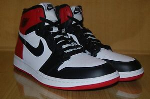 3f025d06580b NIKE AIR JORDAN 1 RETRO HIGH OG BLACK TOE 555088 184 WHITE BLACK RED ...