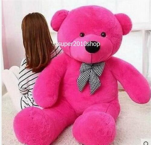 GIANT 63'' BIG CUTE rose PLUSH TEDDY BEAR HUGE SOFT 100% PP COTTON TOY+EMS ship