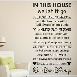 Image Is Loading We Do DISNEY House Rules Vinyl Wall Art