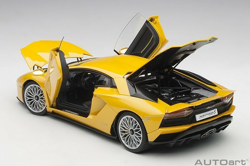 Autoart LAMBORGHINI AVENTADOR S 2017 New yellow ORION PEARL YELLOW 1 18 NEW