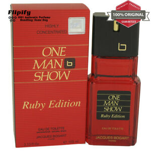 One-Man-Show-Ruby-Cologne-3-3-oz-EDT-Spray-for-MEN-by-Jacques-Bogart