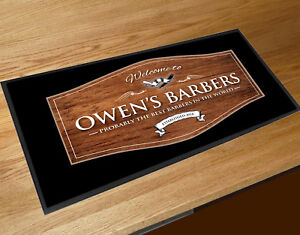 Personnalise Avec Votre Nom Welcome Barber Shop Effet Bois Shop