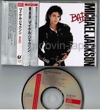 MICHAEL JACKSON Bad JAPAN CD 1987 1st issue 32.8P-200 21B5 w/OBI 3,200JPY FreeSH