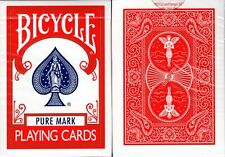 Marked VF Red Maiden Back Bicycle Playing Cards Poker Size Deck USPCC Custom