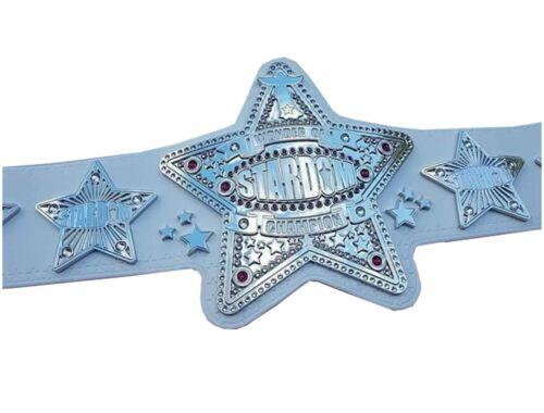 Wonder of Stardom Champion Wrestling Leather Belt Metal Plates Replica Adult New