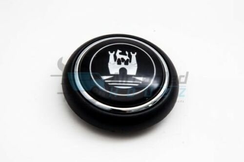 VW VOLKSWAGEN TYPE 2 DELUXE BUS HORN BUTTON WITH CASTLE LOGO Black//Grey