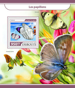 Djibouti-2017-MNH-Butterflies-1v-S-S-Papillons-Butterfly-Insects-Stamps