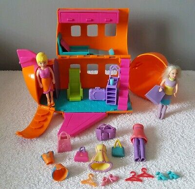 Fashion, Character, Play Dolls Dolls & Bears Special Section Polly Pocket Aeroplane Original 2002 ~*with 2 Doll Figures,clothes+accessories*~