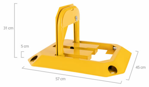 Parkplatzsperre Klappbar Parkbügel Parkplatzbügel Sperrbügel Gelb Schlüssel