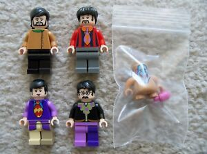 LEGO-Ideas-CUUSOO-BEATLES-Set-Of-5-Minifigs-John-Paul-George-Ringo-amp-Jeremy