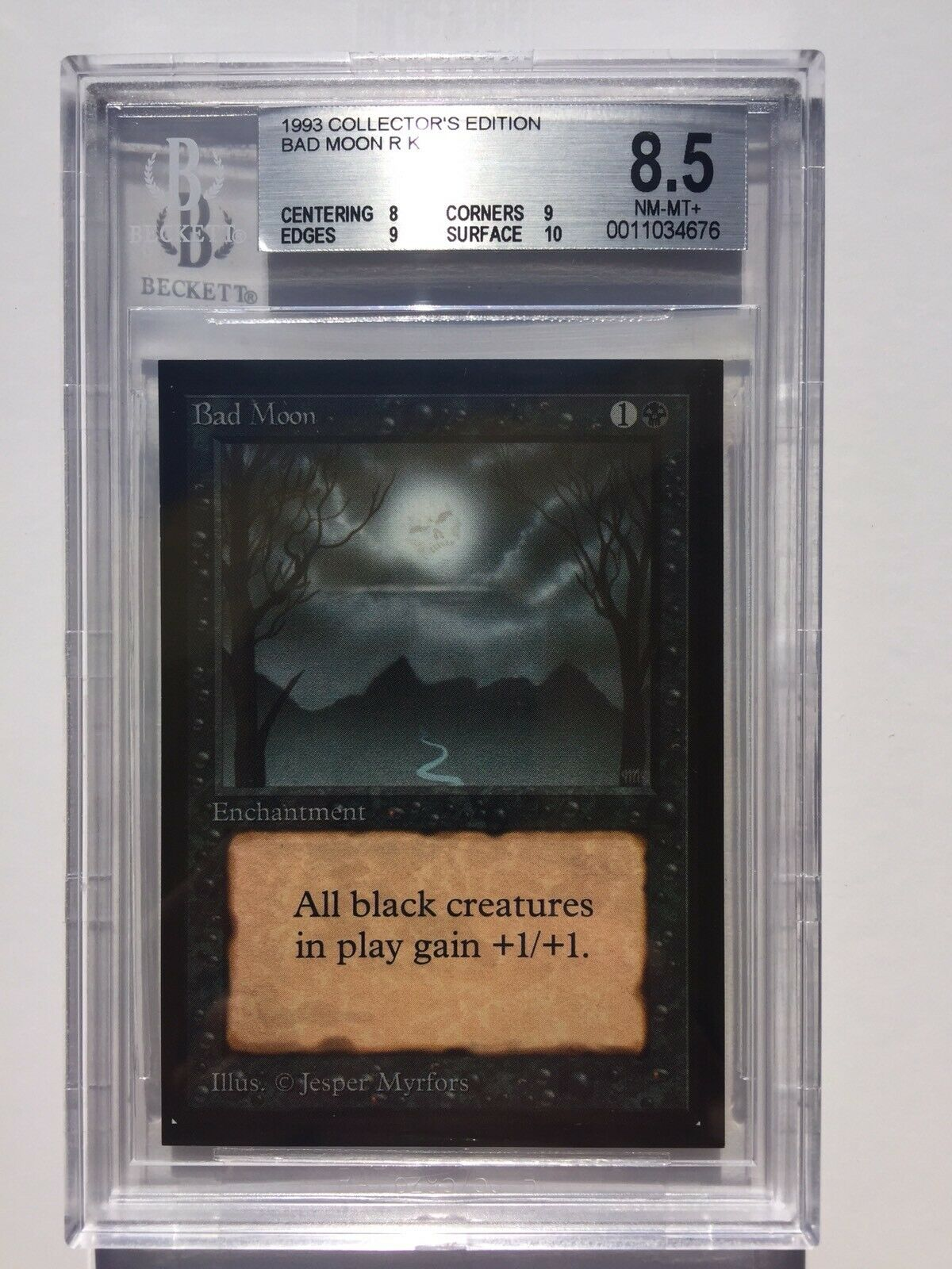 BGS 8.5   Bad Moon   MtG CE Collector's Edition   NM - Mint + [8, 9, 9, 10]