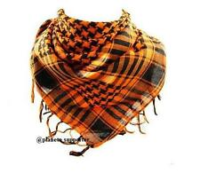 KEFFIEH ORANGE & NOIR écharpe foulard palestinien palestine drapeau chèche ...