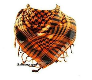 2bcb24d81d81 KEFFIEH ORANGE ET NOIR écharpe foulard palestinien palestine drapeau ...