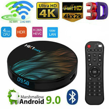 SMART TV BOX ANDROID 9.0 IPTV 4K FULL HD 1080P 4GB 64GB ROM DECODER WIFI HK1MAX