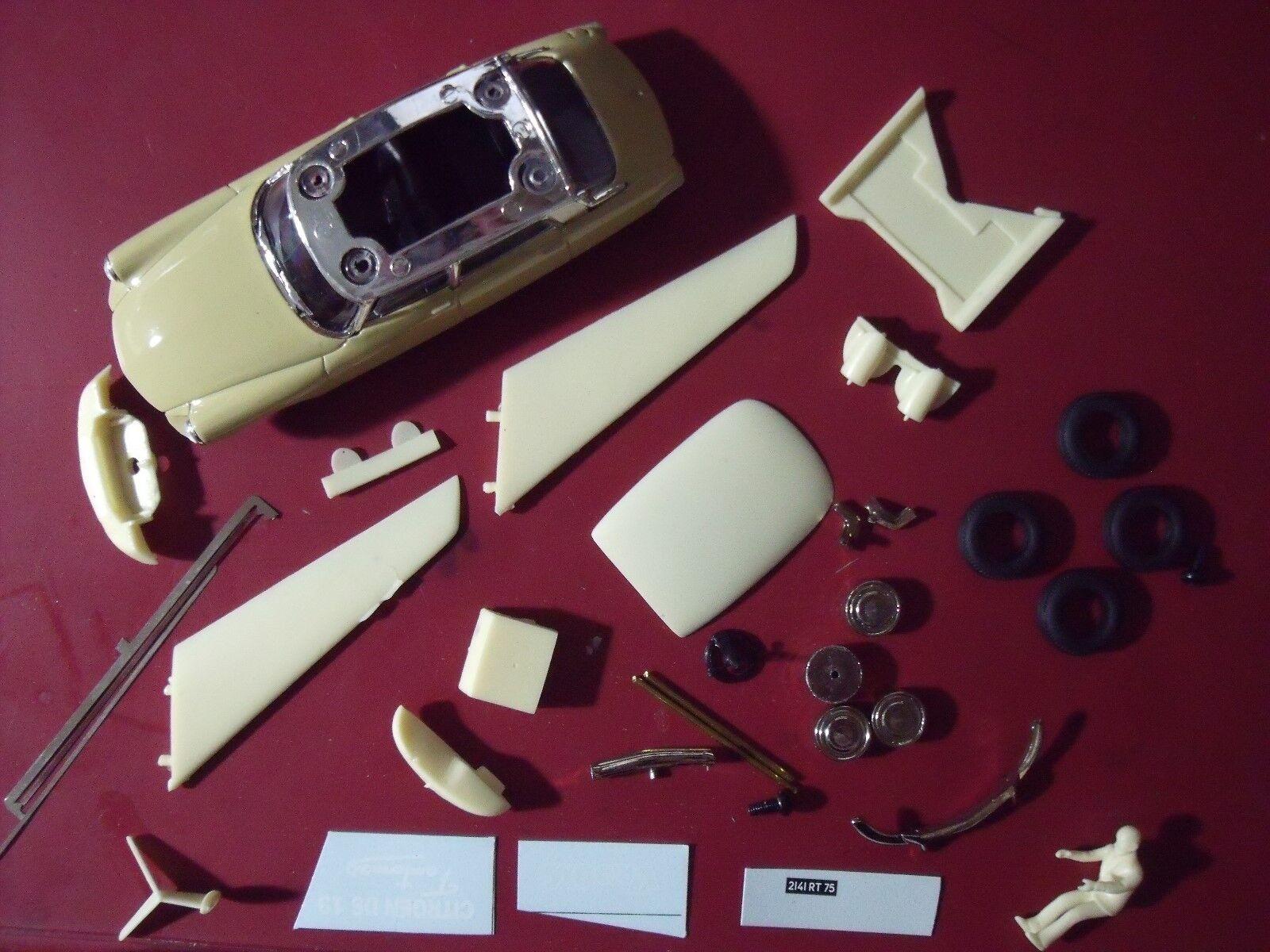 CITROEN  DS DS DS 19  FANTOMAS  DE  FUNES  VROOM  KIT  1 43  UNPAINTED  KIT  BAUSATZ c78635