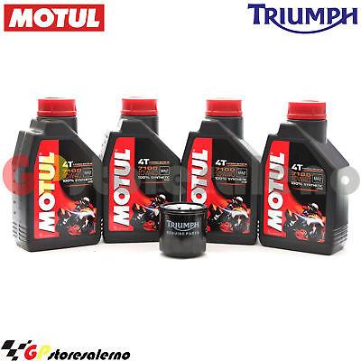 Costante Kit Olio + Filtro Originale Motul 7100 10w40 4l Triumph 865 Scrambler 2015