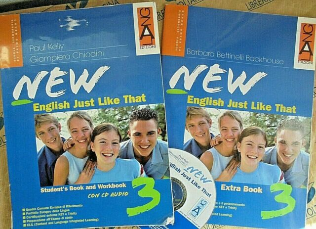NEW ENGLISH JUST LIKE THAT VOL.3 con Cd (2VV) PER MEDIE - KELLY CHIODINI - LANG