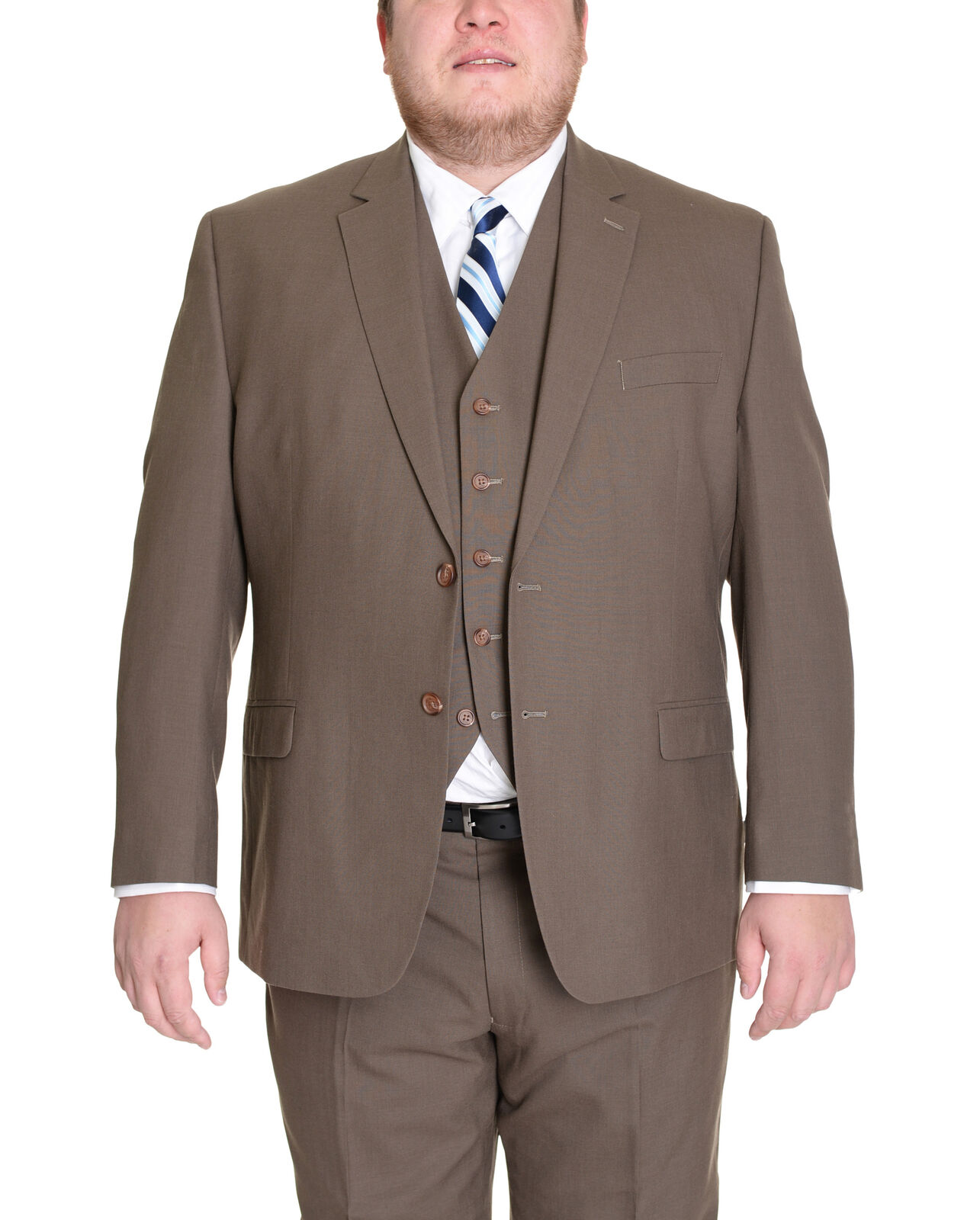 Mens 38R Ralph Ralph Ralph Lauren Mens Solid Olive Grün Two Button Three Piece Wool Suit a53