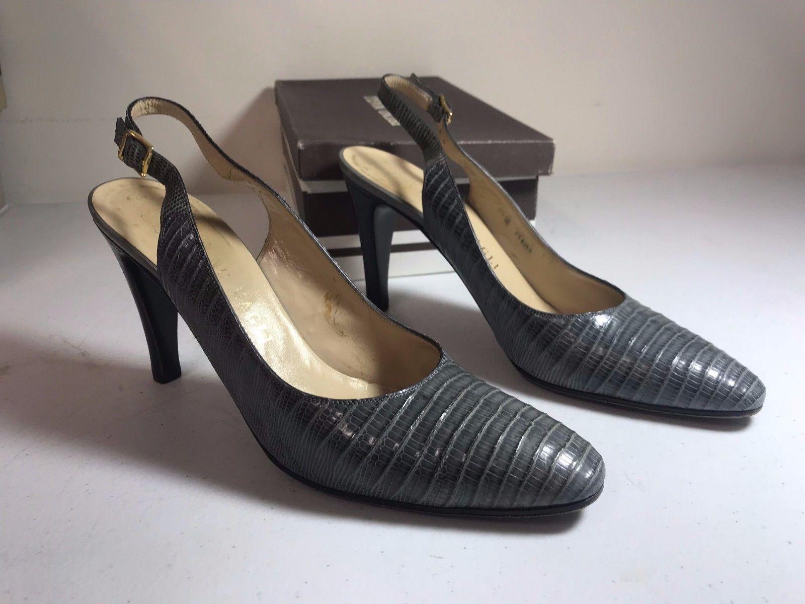 acquista la qualità autentica al 100% Italian Bruno Magli Magli Magli donna Slingback Teyus grigio Leather Heel SZ 8.5 AAAA  nuovo sadico