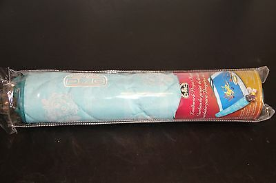 Turquoise with White Floral Print DMC Needlework Project Keeper