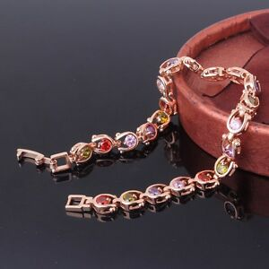 18k-gold-filled-colorful-sapphire-wedding-new-fashion-chic-bracelet-7-034-12-5g