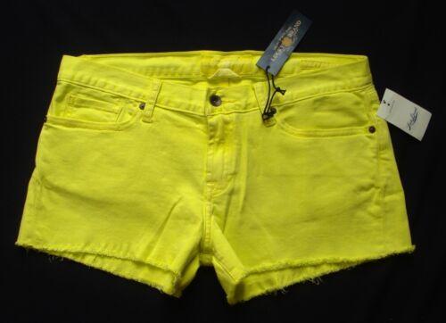New LUCKY BRAND Jean Shorts sz 12// 31 Riley CutOff Boyfriend Neon Yellow Denim