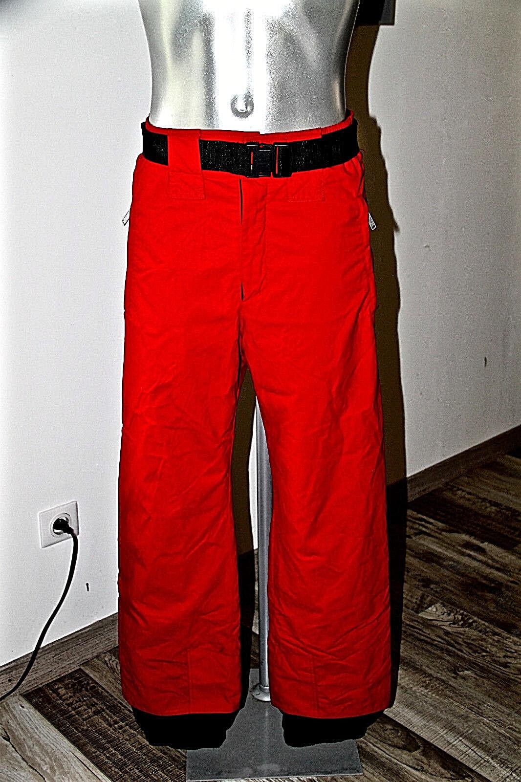 Pantaloni Sci Snowboard Rosso Foderato UomoDonna Eider Taglia 40 Fr 44i L